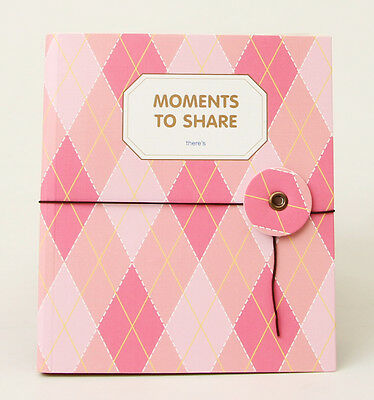 Instax Photo Album x100ea Namecard Case Mini Film Book 80Photos Pink-Argyle