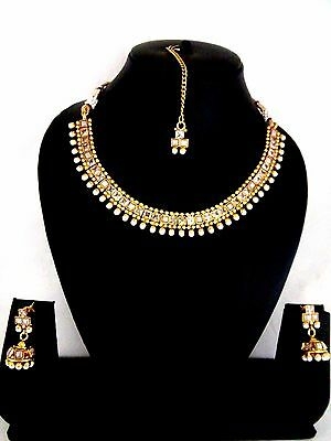 Indian Fashion Jewelry bollywood  necklace Earring gold Ethnic traditional set 8