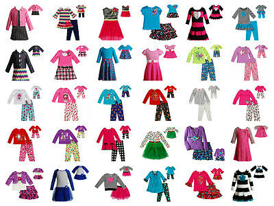 """Dollie & Me Girl 4-14 and 18"""" Doll Matching Dress Outfit Pajamas American Girl"""