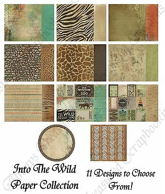 """Kaisercraft 12""""x12"""" Scrapbook Paper Into The Wild ~ 11 Designs to Choose From!"""