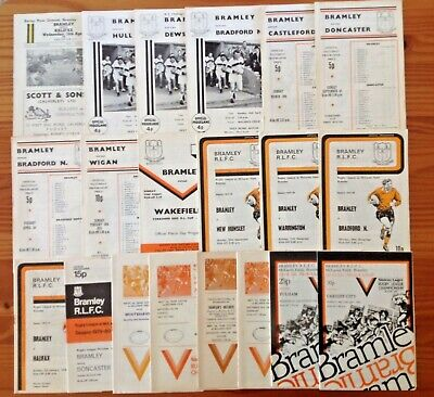 Bramley Rugby League Programmes 1964 - 1983