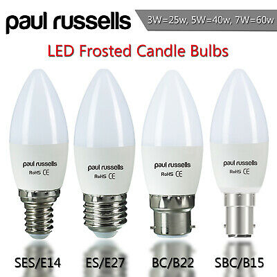 10 X Halogen Candle Low Energy Saving Light Bulbs Dimmable