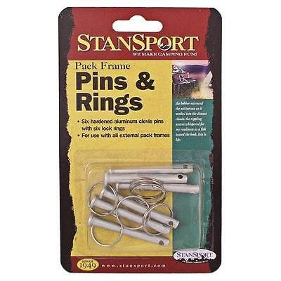 Stansport Clevis Pin & Rings 6 Per Pack - Made Of Hardened Aluminum