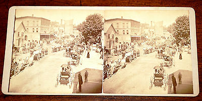 Antique Rare F.J Moultan Stereoview of New Hampshire Town in 1880