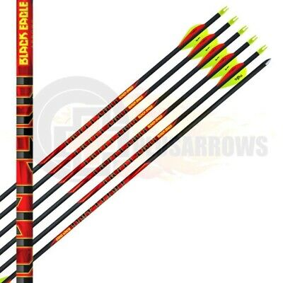Black Eagle Arrows 12 Qty Outlaw Carbon Shafts Archery Target Hunting