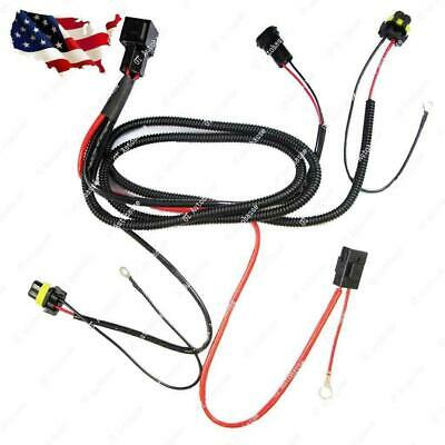 XENON HID RELAY Wiring Harness Kit for H1 H7 H8 H10 H11 HB4 ... on