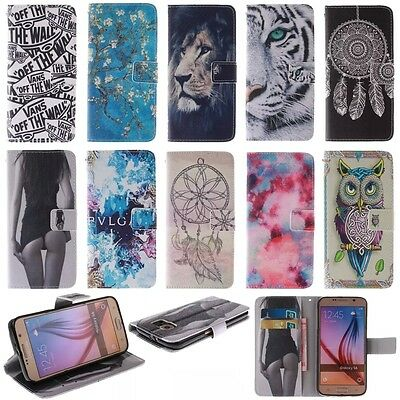 Flip Leather Hybrid Card Holder Wallet Stand Case Cover For Samsung Galaxy Phone