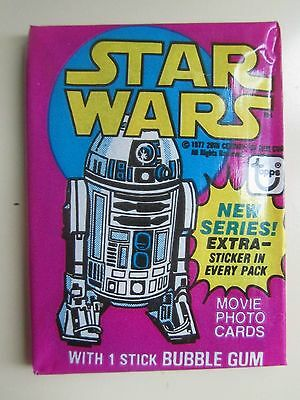 1977 Topps Star Wars Series 3 Sealed Pack Of Movie Trading Cards