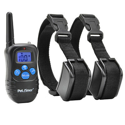 Petrainer Dog Training Shock Collar with Remote for 2 Dogs Rechargeable E Collar