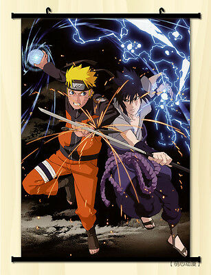 Japan Anime NARUTO Uzumaki Naruto Uchiha Sasuke Home Decor Wall Poster Scroll N