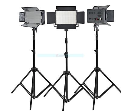 Godox 3X LED500C Studio Continuous Video Light 3300-5600K + Light Stand Kit