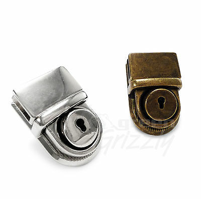 Bag Closure Catch Tuck Lock Clasp Fasteners Leather Craft Metal Diff colors B1E