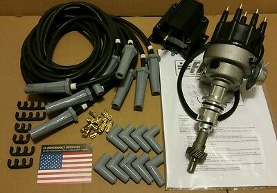 Ford Cleveland 302 351 Black Electronic Ignition Distributor kit Replaces MSD