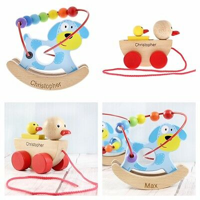 PERSONALISED WOODEN TOYS Unique Baby Gift Idea 1st Birthday Christmas Present