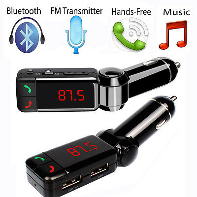 Wireless Bluetooth FM Transmitter MP3 Player Car Kit Charger for iPhone Samsung