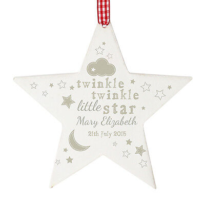 PERSONALISED BABY KEEPSAKE HANGING DECORATION Newborn Door Hanger,Memorial Gift