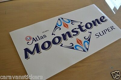 ATLAS Moonstone Super 1 Front Static Caravan Sticker Decal Graphic - SINGLE