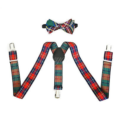 Red Striped Suspender and Bow Tie Set for Baby Toddler Classy Kids Child (USA)