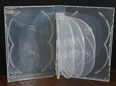 New 2 Pk Super Clear Multi DVD Case Box 33 mm 12 Discs Holder W Flap Premium