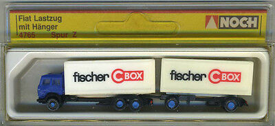Noch 4765 Fiat Truck and Trailer fisher CBOX dual tandem 1:220 Z Scale NIB