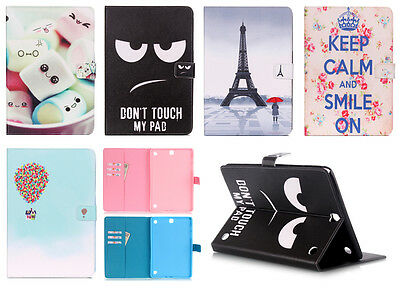 Painting Leather Smart Case Stand Cover for Samsung Galaxy Tab 9.7 T550 T555
