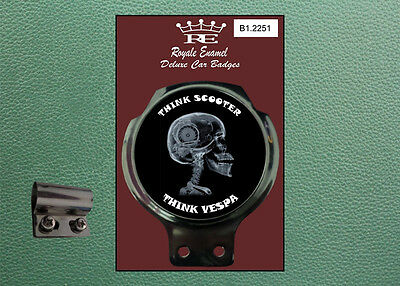 Royale Classic Car Badge & Bar Clip PIAGGIO THINK Mod B1.2251
