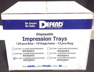 Defend Disposable Impression Tray #3 Medium Upper (120pcs/10bags/1box)#IT-7003
