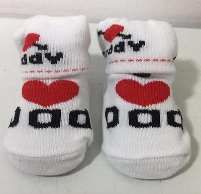(Ch 30) Soft Touch Infants Socks 'Dad'  Size 0-6 months
