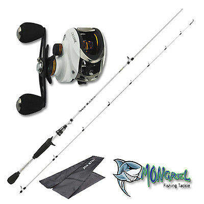 NEW Baitcaster Rod&Reel Combo Abu Garcia Rod LMA200 reel great for kayak fishing