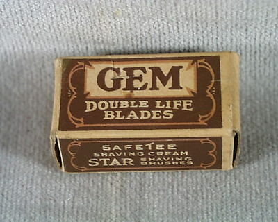 Vintage Gem Double Life Blades in Original Box 5 of 6 Blades  C