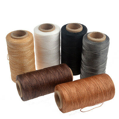 220m 0.8mm Braid Sewing Waxed Thread For LeatherCraft Upholstery Shoes Luggage