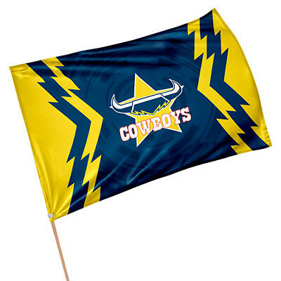 North QLD Queensland Cowboys NRL GAME DAY Pole Flag Banner Fathers Man Cave Gift