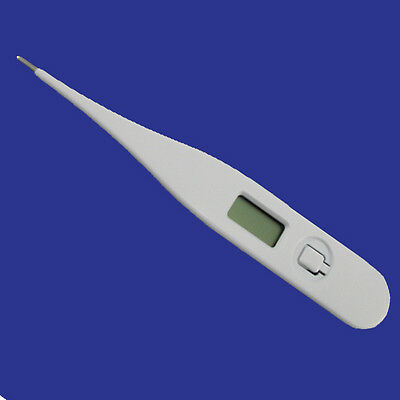 Digital Lcd Medical Body Thermometer Fast Safe With Flexible Tip & Fever Alarm