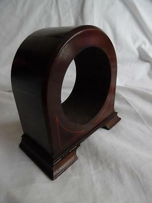 Antique mahogany inlaid wooden clock case