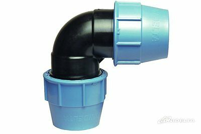 Water / PE / Alkathene / MDPE Compression Pipe Fittings Elbow 90°