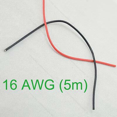 16 AWG (5m) Gauge #T Silicone Wire Flexible Stranded Copper Cables for RC New