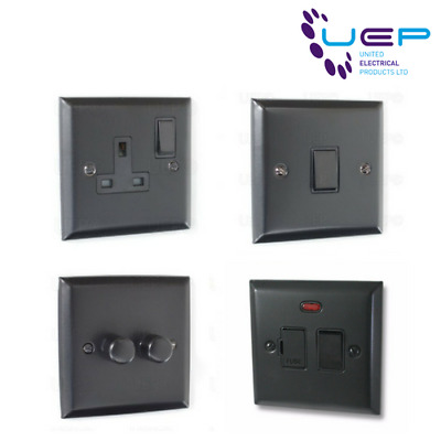 Matt Black Sockets & Switches - Elite Range