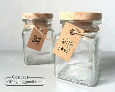 Mini Kraft Handmade With love_Gift Tags_Wedding Party Favor bomboniere Hang tag