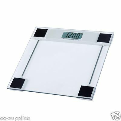 150Kg Digital Scales Electronic Lcd Bathroom Weighing Scale Glass Weight Gym