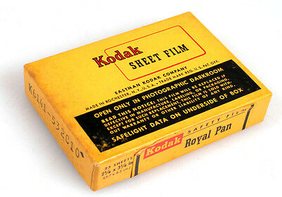 KODAK ROYAL PAN SHEET FILM, 25 SHEETS 2 1/4x3 1/4in, UNOPENED