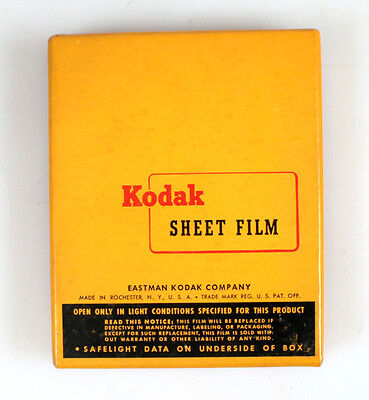 4x5 KODAK ORTHO TYPE 3 FILM 50 SHEETS UNOPENED EXP. 1962