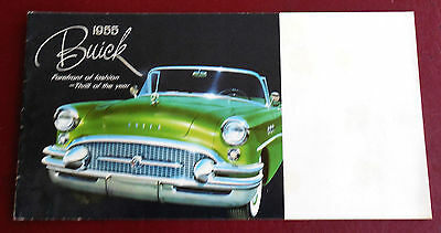 1955 Buick 20 Page Mailer Brochure Very Good Original 14 Full Page Models Shown