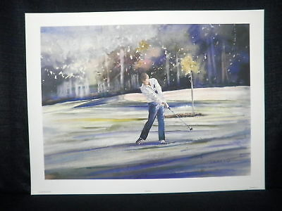 "Vivien Weller ""Fairway Form"" Golf Lithograph"