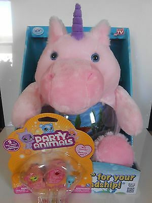 Teddy Tank Magical Unicorn Fish Tank, Snack, Coin Holder & Party Animals 2 Pack