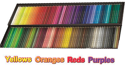 Polychromos Artists' colour pencils - reds, oranges, yellows, purples