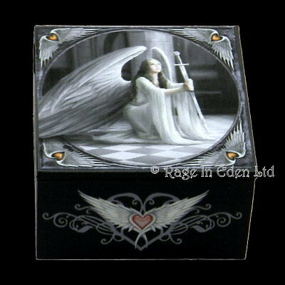 *THE BLESSING* Goth Fantasy Angel Art Trinket Box With Mirror By Anne Stokes