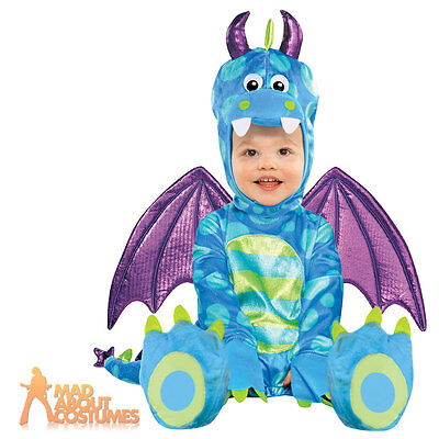 Baby Little Dragon Costume Kids Fancy Dress Book Week Outfit Monster Onesie