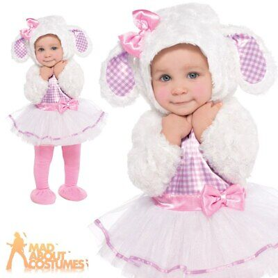 Baby Little Lamb Costume Toddlers Animal Fancy Dress Outfit New Age 6-18 Months