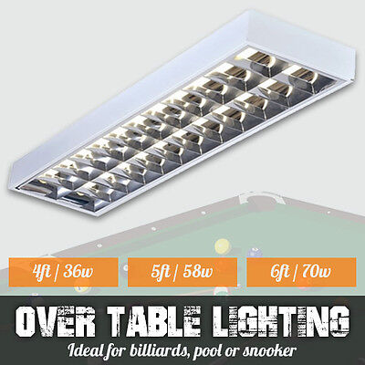 Over Table Billiard / Pool Table Lights Or Snooker Table Lights 4Ft, 5Ft Or 6Ft