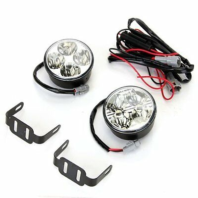 2x4W LED White Light Daytime Fog 4 High Power DC 12V Car sm